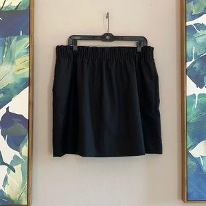 J. Crew Black City Elastic Skirt Pockets 14 XL